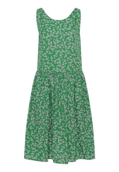 Kjolen – den vendbare i grøn med blomster