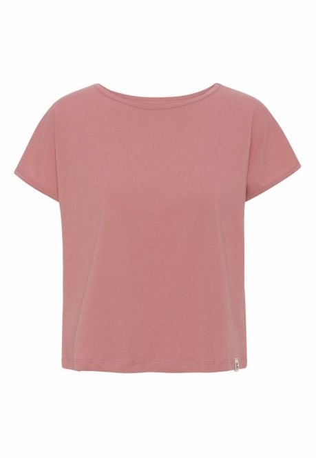 T-shirten – den korte i rosa