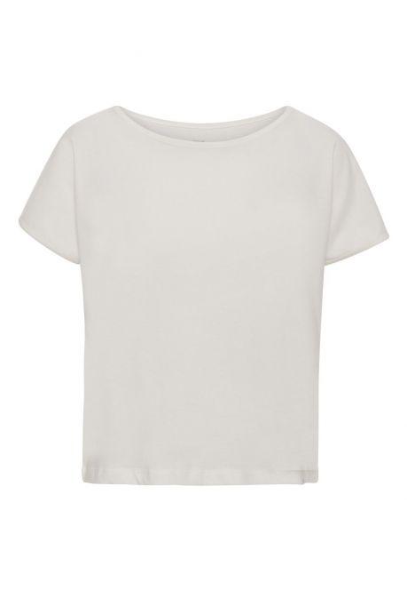 T-shirten - den korte i mælkehvid