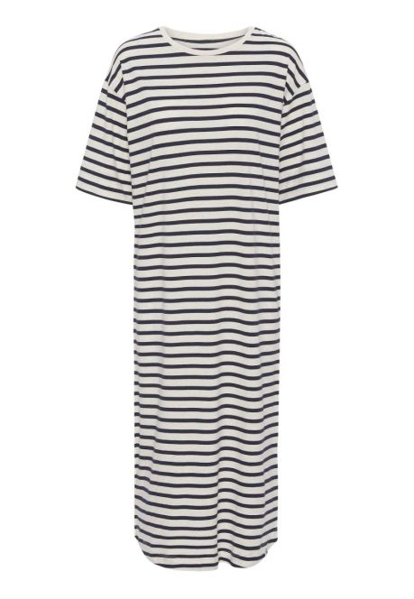 T-shirtkjolen – den med mørkeblå striber