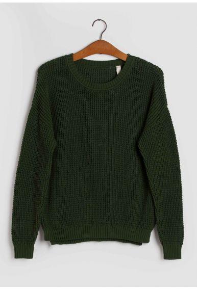 Strik blusen – den i mørkegrøn