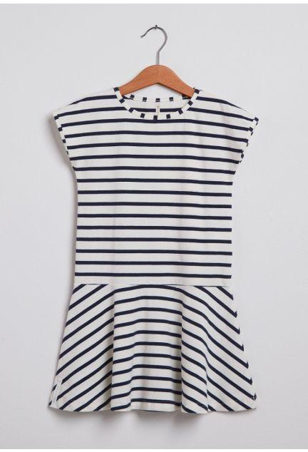 Kjolen mini – den med striberne i blå