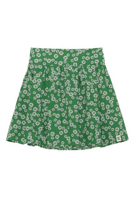Nederdelen mini – den i grøn med blomster