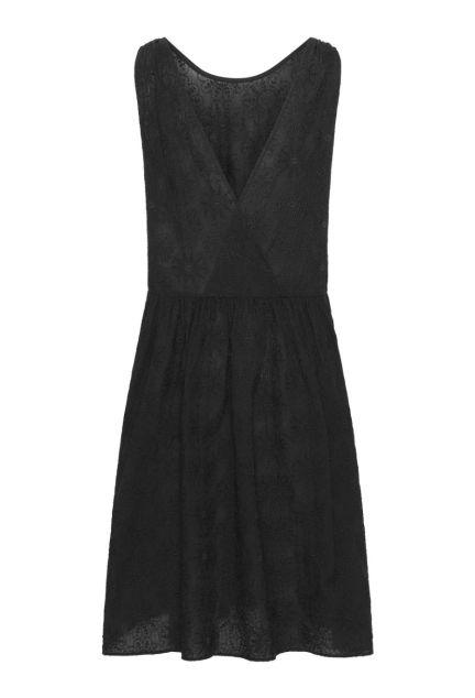 Kjolen – den vendbare i sort med blomster-broderi