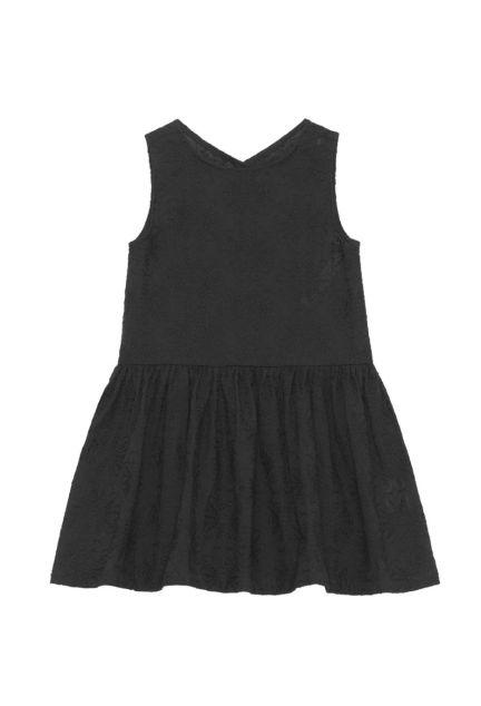 Kjolen mini – den med knapper i sort med blomster-broderi