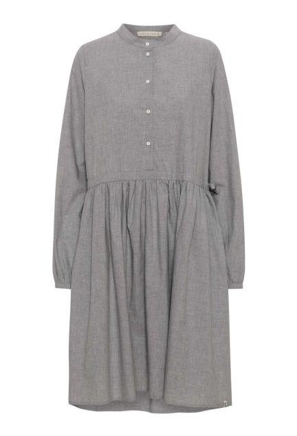 Kjolen - den med knapper i grå melange