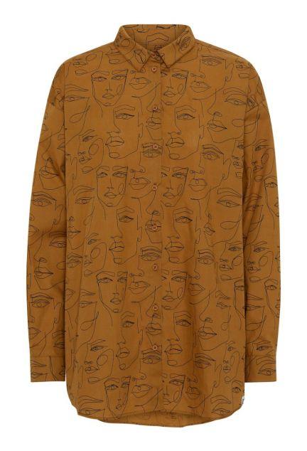 Skjorten - den oversize med krave i cognac