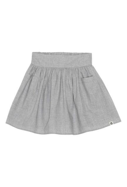 Nederdelen mini - den i grå melange