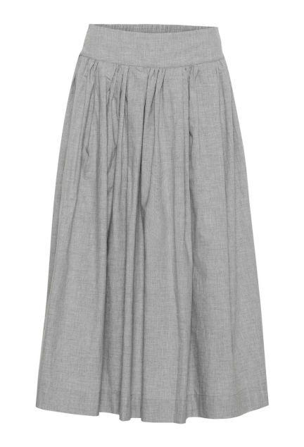 Nederdelen - den lange i grå melange