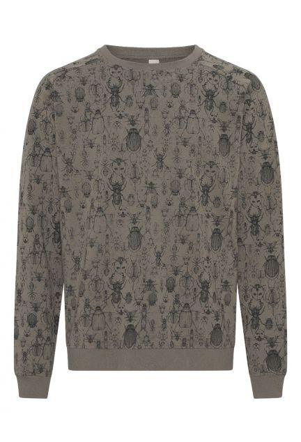 Sweatshirten herre – den i muskat med print