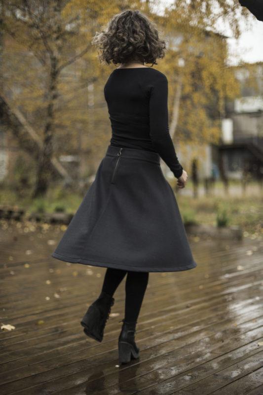 Nederdelen fra GROBUND. Økologisk bomuld, bæredygtig og GOTS certificeret